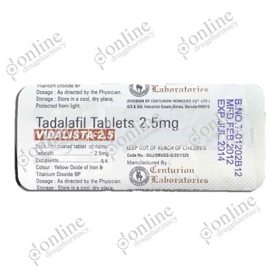 Buy Vidalista 2.5 mg (Tadalafil Tablets)