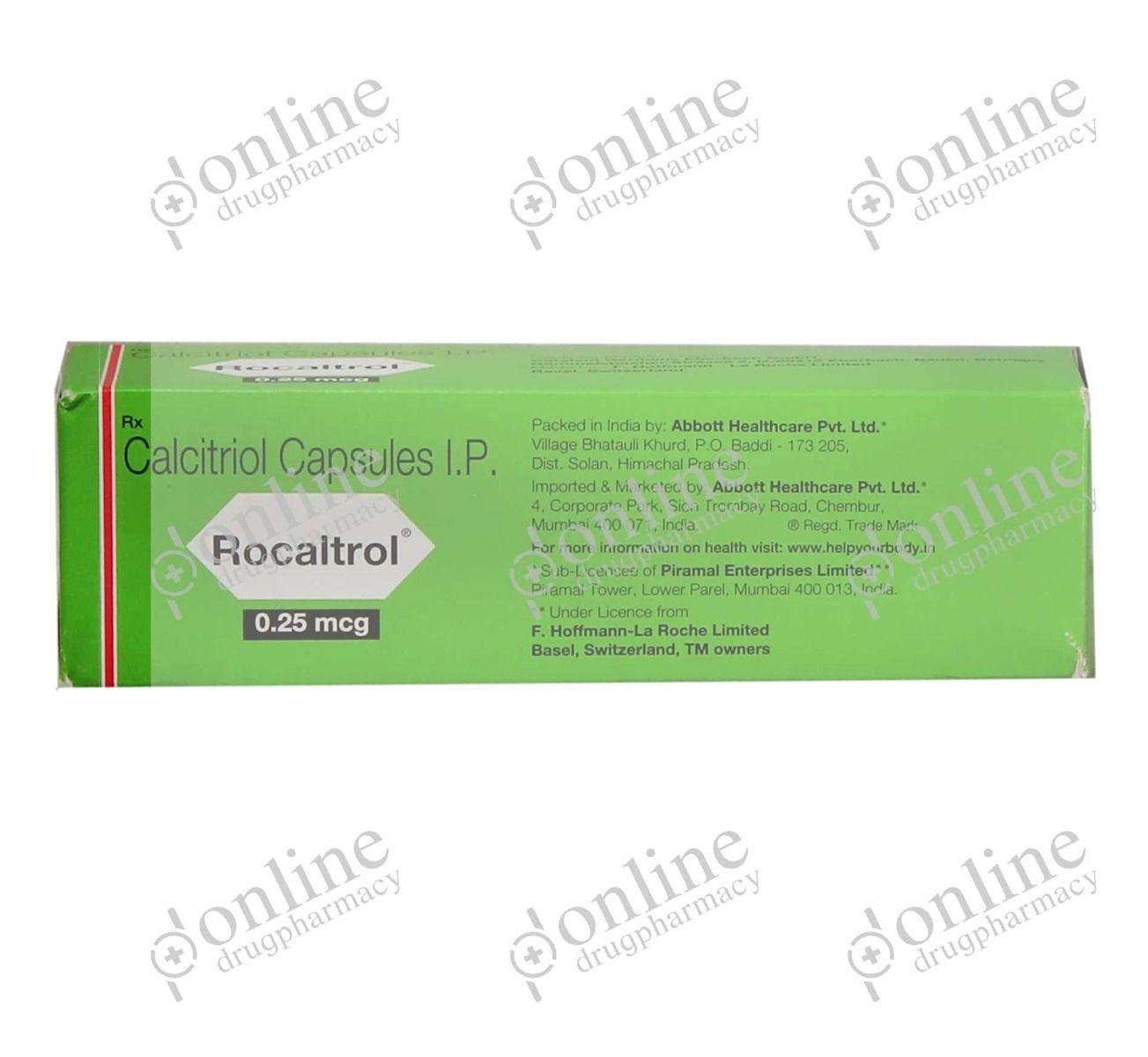 Rocaltrol 025mg Calcijex Calcitriol