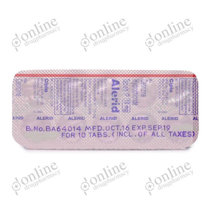 Alerid 10 mg-back-view