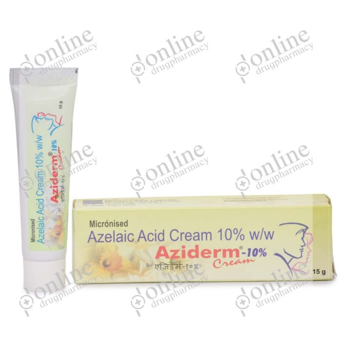 Aziderm Cream 10% (15 gm)-Front-view