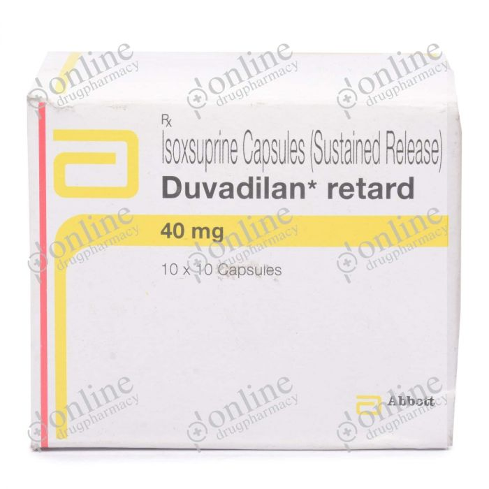 Duvadilan Retards 40 mg-Front-view