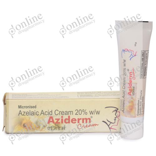 Aziderm Cream 20% (15 gm)-Front-view