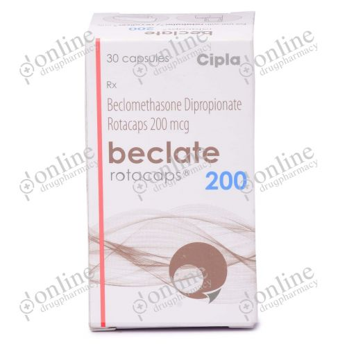 Beclate Rotacaps 200 mcg-Front-view