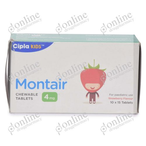 Montair Chewable Tablets 4 mg-Front-view