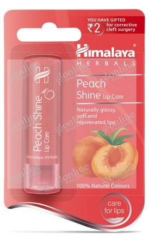 Peach Shine Lip Care 4.5gm-front-view
