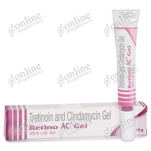 Retino AC Gel 0.025% + 1% (15 gm)-Front-view